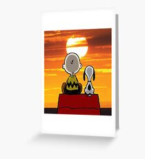 sunset carly snoopy Greeting Card