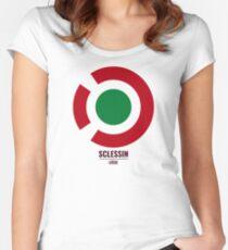 """""""Sclessin"""" Standard de Liège stadium t-shirt Women's Fitted Scoop T-Shirt"""