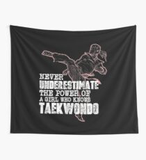 The Power Of A Girl Who Knows Taekwondo Shirt Wall Tapestry