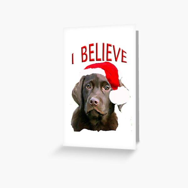 Black Labrador Dog Animal Comical Funny Painting Birthday Card
