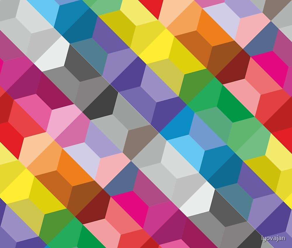 Geometric colorful background #redbubble #decor #buyart #artprint by lyovajan