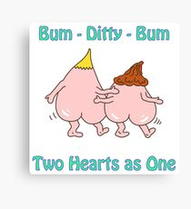 Bum ditty bum - Two hearts as one Canvas Print