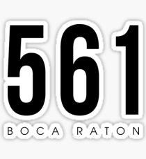 Boca Raton, FL - 561 Area Code Sticker