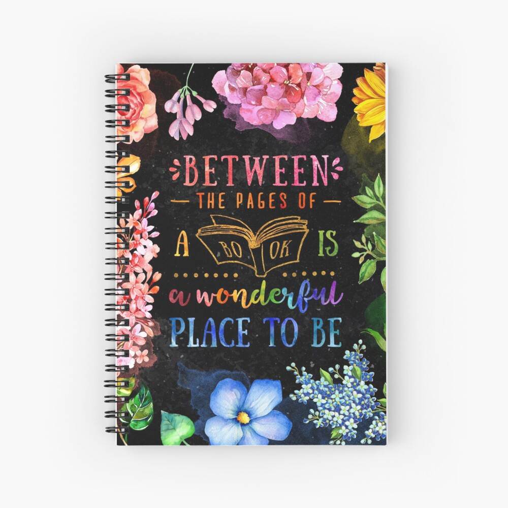 Between the pages (black) Spiral Notebook
