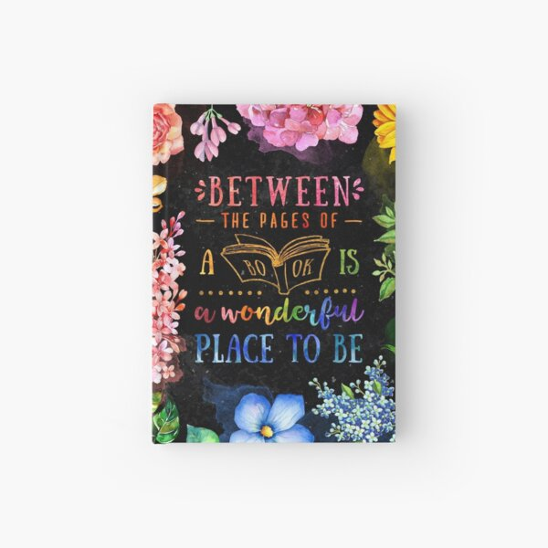 Between the pages (black) Hardcover Journal