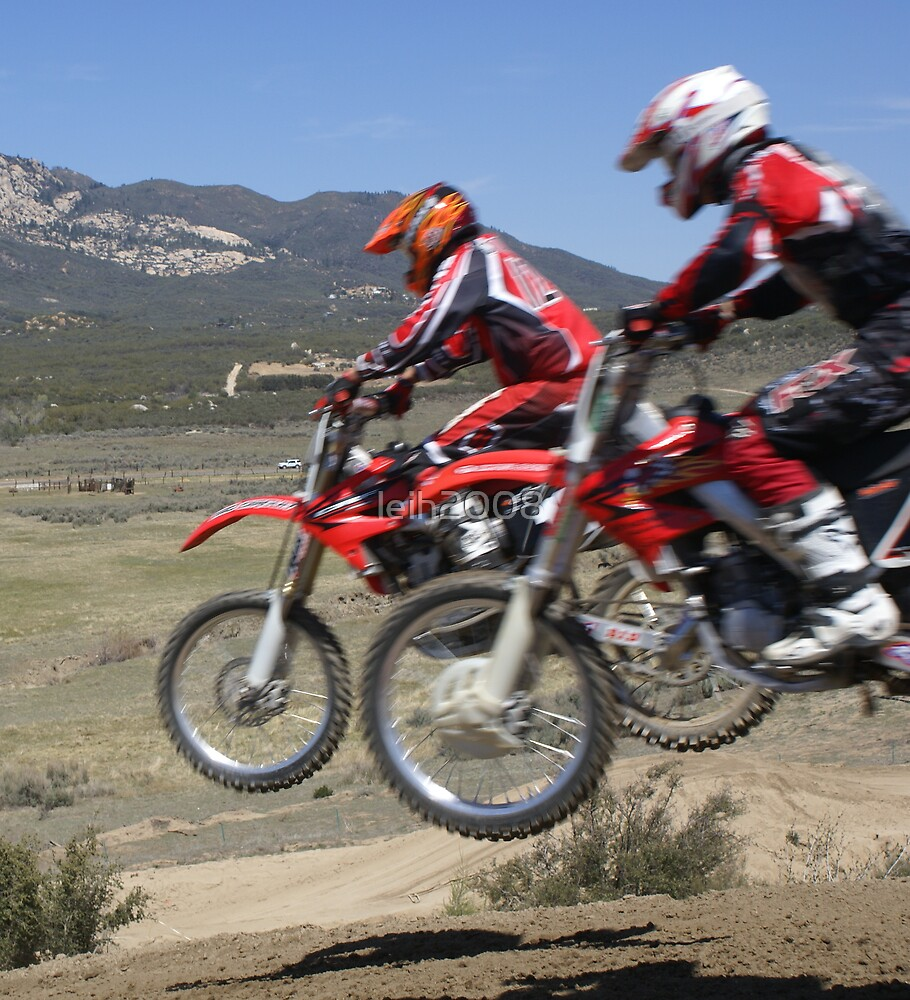Motocross Racing Action - Two by two - Cahuilla MX California Vet X Racing Series, (1137 Views as of 4-6-2013) by leih2008