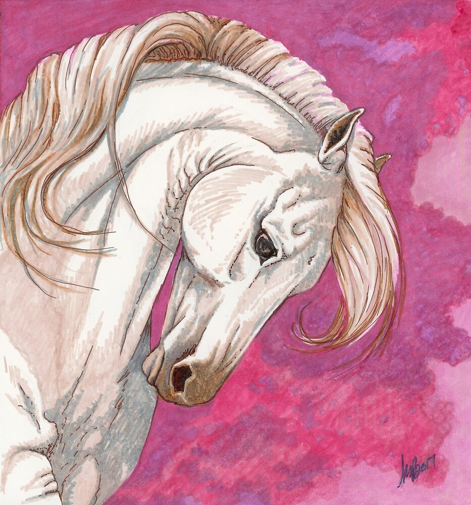 O Cavalo da Rosa by The Art of Krista S. Payne