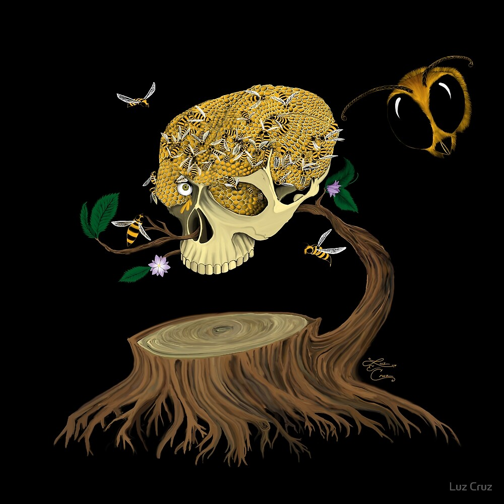 Skull Honey by Luz Cruz