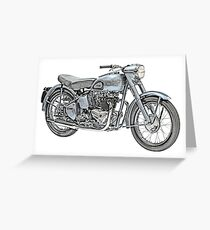 1951 Triumph Thunderbird Motorcycle Greeting Card