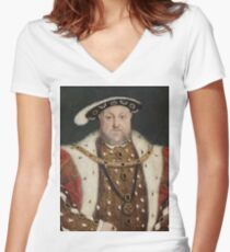 Henry VIII - Hans Holbein Women's Fitted V-Neck T-Shirt