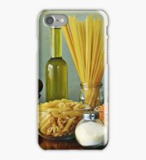 Aglio, olio peperoncino (garlic, oil, chili) noodles iPhone Case/Skin