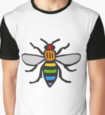 Manchester Bee, Rainbow Edition Graphic T-Shirt