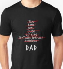 Dad List - A Gift for all Dads (White Font) T-Shirt
