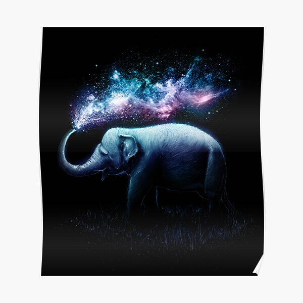 Elephant Splash Poster