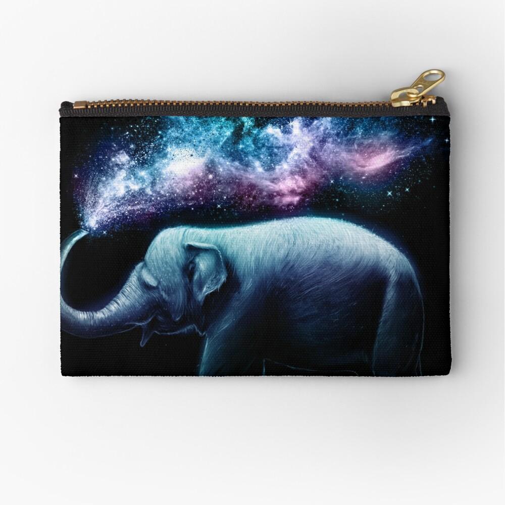 Elephant Splash Zipper Pouch