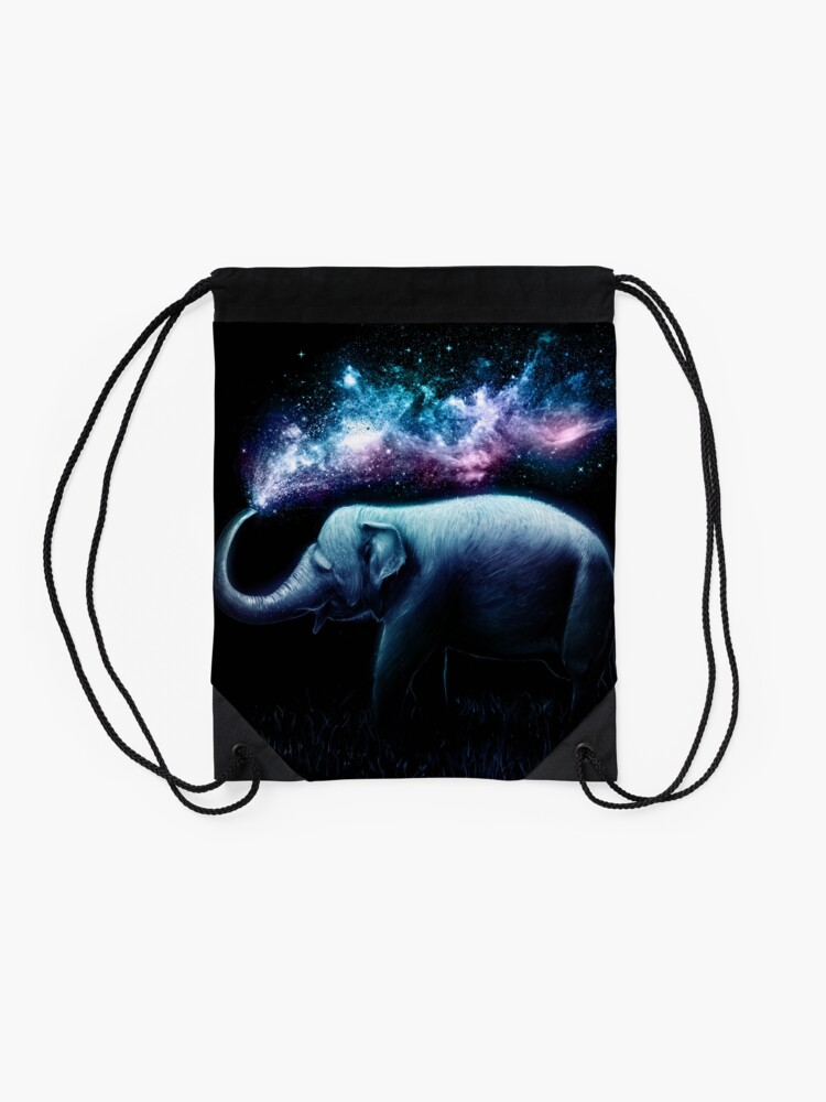 Alternate view of Elephant Splash Drawstring Bag