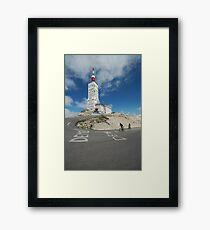 reaching the top Framed Print