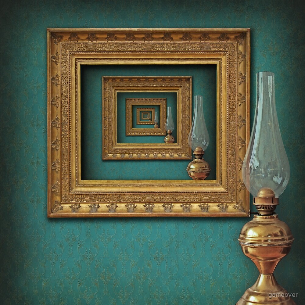 Quot Surreal Frames Mirrored With Vintage Oil Lamp Quot By