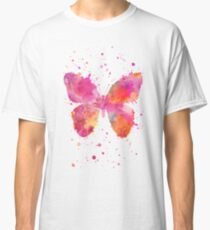 Artsy Butterfly pink and orange Classic T-Shirt