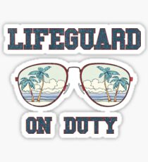 Lifeguard on duty tee shirt  Sticker