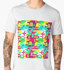 Bright neon pattern in laconic style Men's Premium T-Shirt