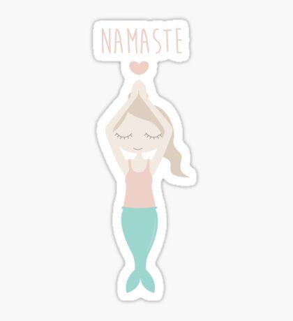 Namaste Yoga Mermaid Lady with Peace in Mind Sticker