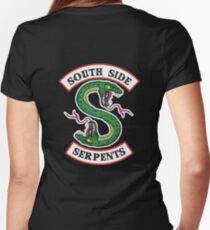 Jughead Southside Serpents Hoodie / Jacket Riverdale Women's Fitted V-Neck T-Shirt
