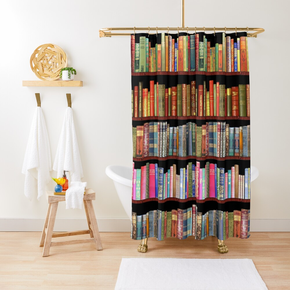 Jane austen antique books & other British antique books Shower Curtain