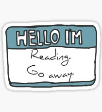 Hello I'm Reading Sticker