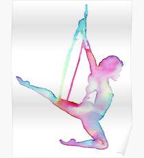 Rainbow Aerial hoop  Poster