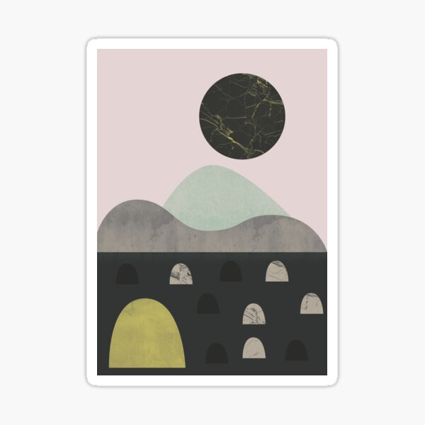 Stones and moon Sticker