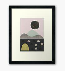 Steine und Mond Gerahmtes Wandbild