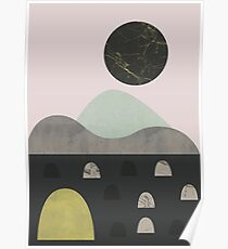 Stones and moon Poster