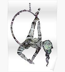 Stammes-Henna-Luftbild-Reifen Poster