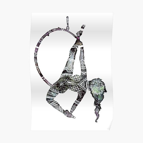 Tribal henna aerial hoop Poster