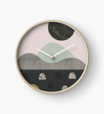 Stones and moon Clock