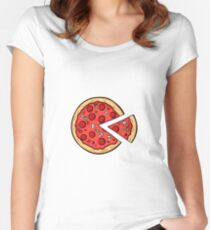 Pizza Pac Man Women's Fitted Scoop T-Shirt
