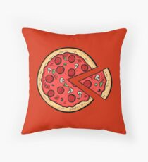 Pizza Pac Man Throw Pillow
