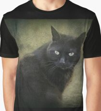 Blacky, playful kitty with green eyes  Graphic T-Shirt