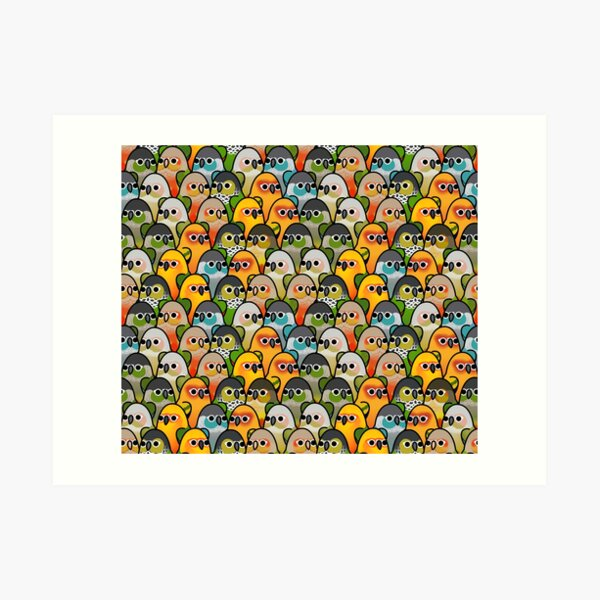 Too Many Birds! - Conure Squad Art Print