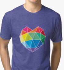 Rainbow - Heart  Tri-blend T-Shirt