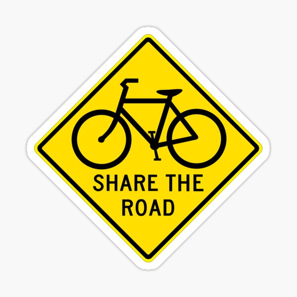 Share the Road Sticker