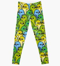 Too Many Birds! Parrotlet Squad Leggings