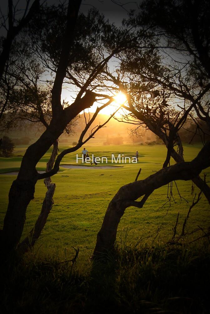 Sunset Golf by Helen Mina