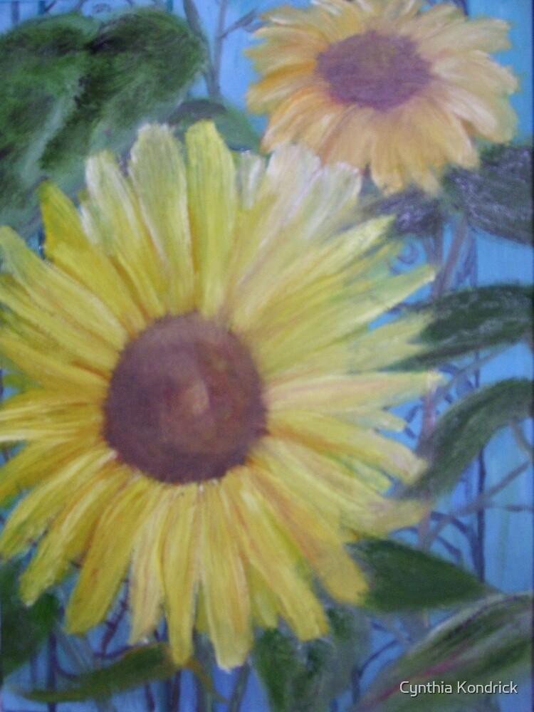 Mom's Sunflowers by Cynthia Kondrick