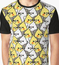 Too Many Birds! - Cockatiel Squad Graphic T-Shirt