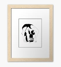 Prickly Gymnastic Framed Print