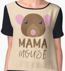 MAMA MOUSE (with matching Baby Mouse and Papa Mouse) Chiffon Top