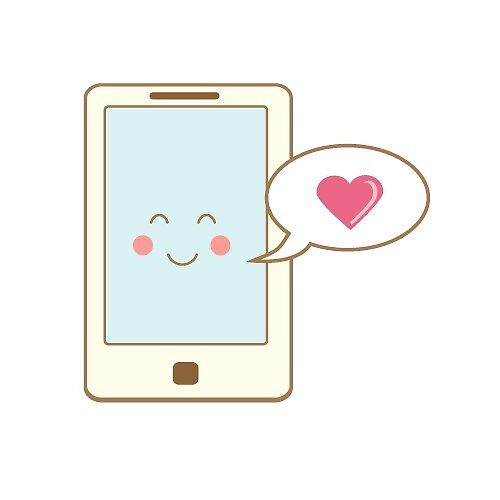Cute smartphone sending love by GennyBunny