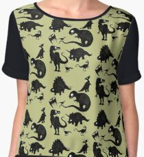 Silhouetted Dinosaurs Chiffon Top